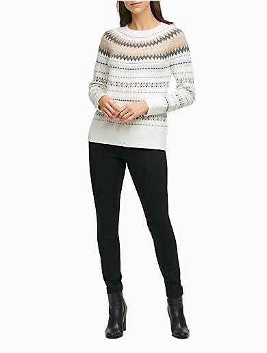 Image of Fair Isle Lurex Crewneck Sweater
