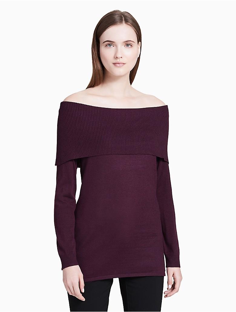 calvin klein womens cowl neck pullover sweater   eBay