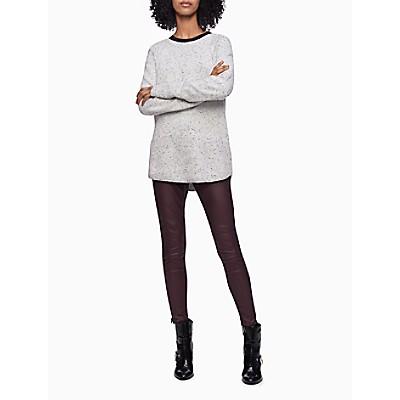 Speckled Crewneck Raglan Sweater