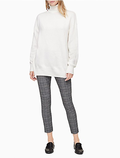 Image of Solid Dolman Sleeve Turtleneck Sweater