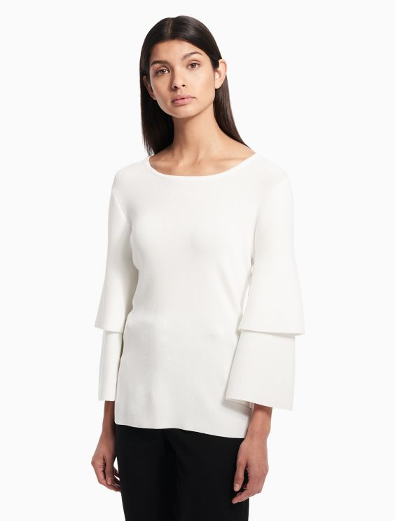 Tiered Ruffle Sleeve Top by Calvin Klein