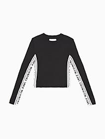 Slim Fit Side Logo Sweater   Calvin Klein