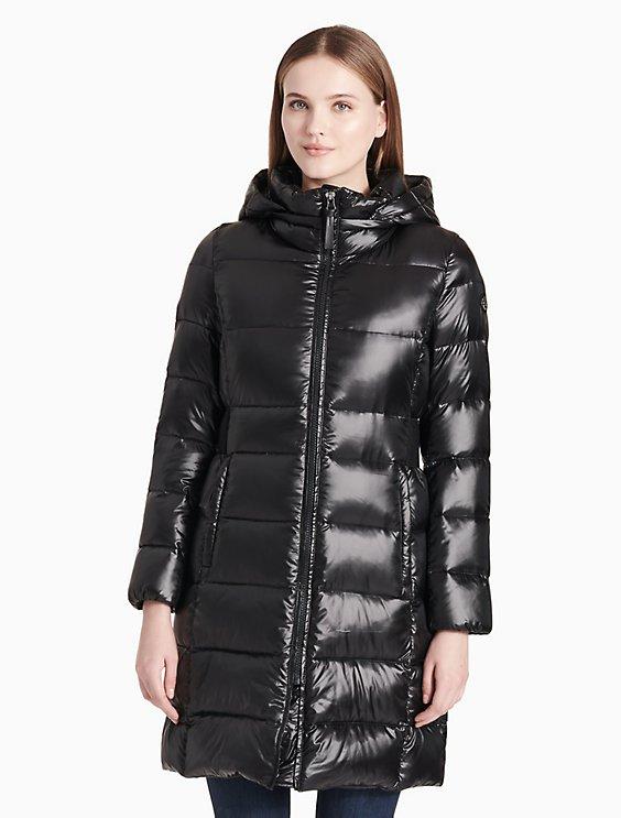 bd517c9e3f88 down packable long jacket | Calvin Klein