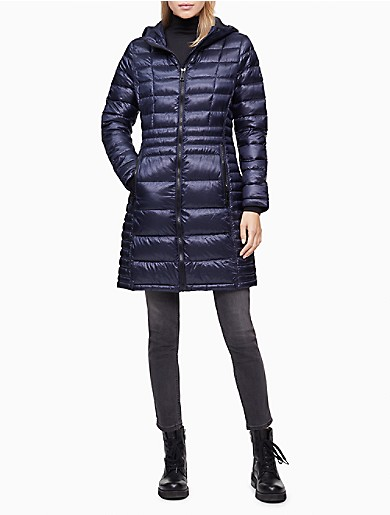 Image of Packable Shiny Full Zip Down Jacket