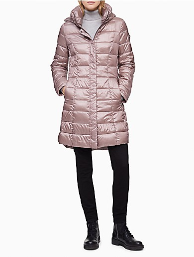 Image of Packable Shiny Full Zip Puffer Jacket