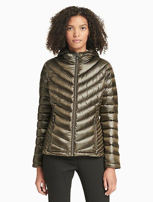 8cb8780dc4448 chevron down packable jacket   Calvin Klein