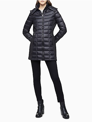 Image of Packable Down Hooded Puffer Coat