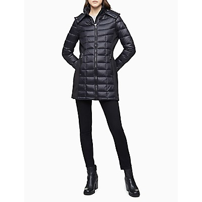 Packable Down Hooded Puffer Coat