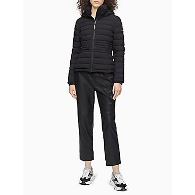 Stretch Full Zip Hooded Puffer Jacket