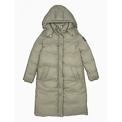 Solid Crinkle Hooded Puffer Coat