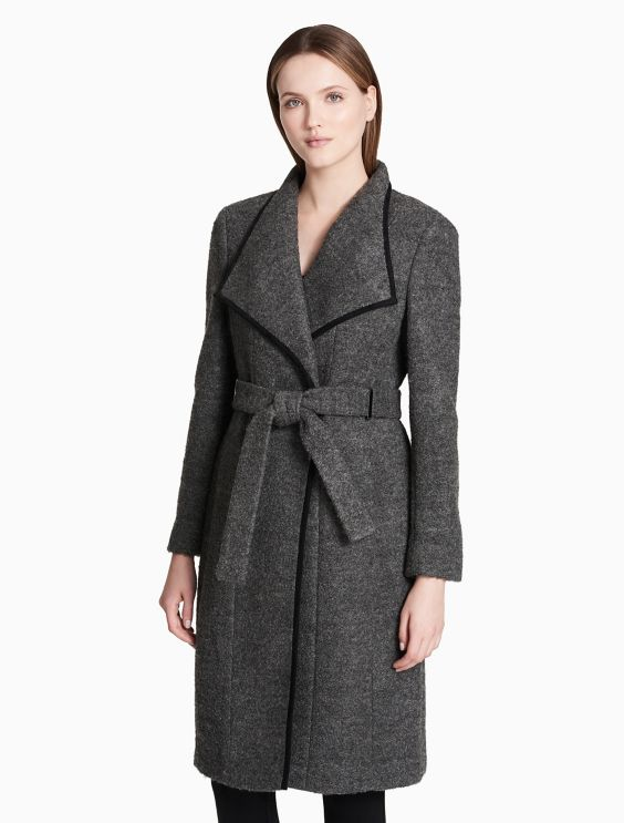 Calvin Klein Collection Wool Belted Jacket