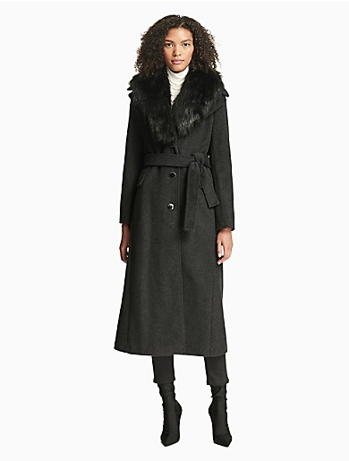 Image of Luxe Faux Fur Belted Coat