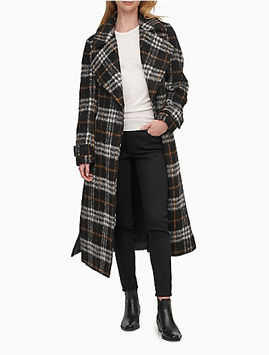 Image of Wool Blend Belted Maxi Coat