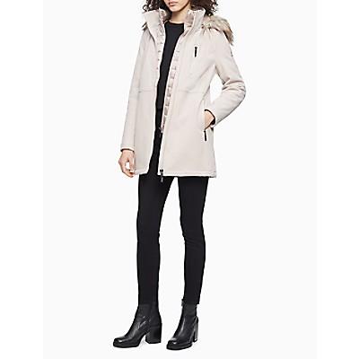 Double Layer Faux Fur Trim Soft Shell Jacket