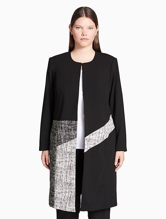 Plus Size Colorblock Topper Jacket Calvin Klein