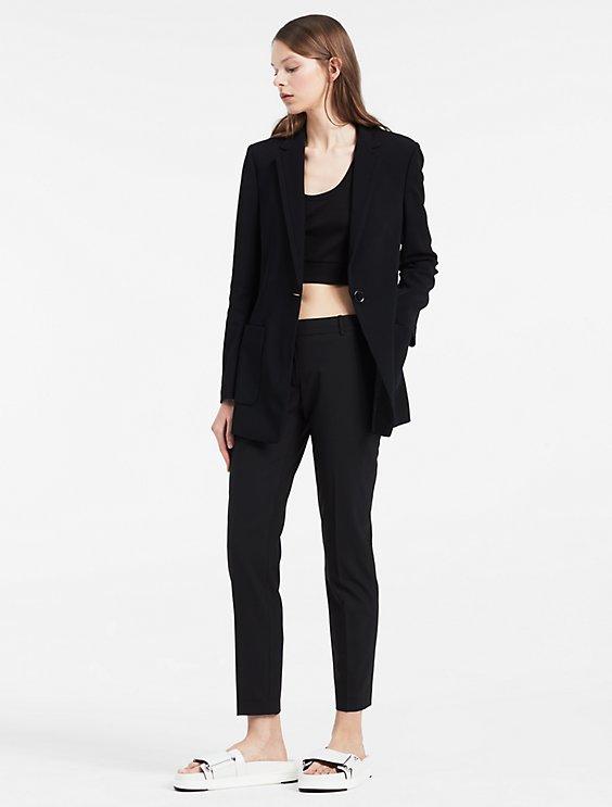 viscose stretch long jacket   Calvin Klein