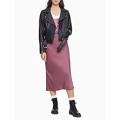 Faux Leather Zip Moto Jacket