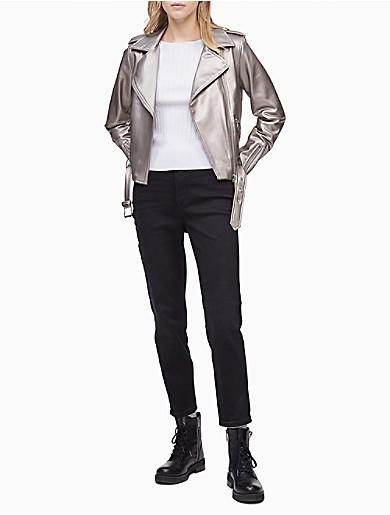 Image of Faux Leather Biker Jacket