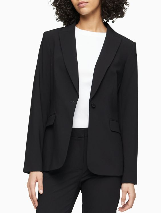 One Button Suit Jacket Calvin Klein