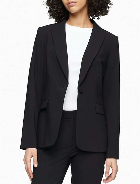 One Button Suit Jacket Calvin Klein
