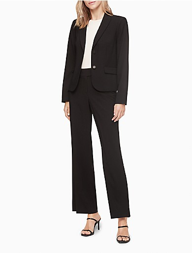 Image of Two Button Black Suit Jacket