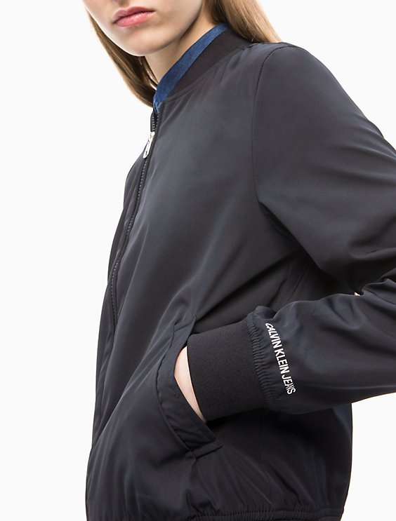 13b8f8256 Solid Logo Bomber Jacket   Calvin Klein
