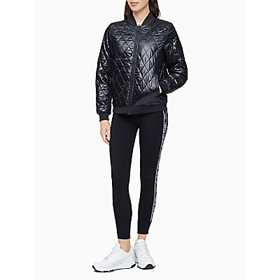 Performance Reversible Quilted Bomber Jacket