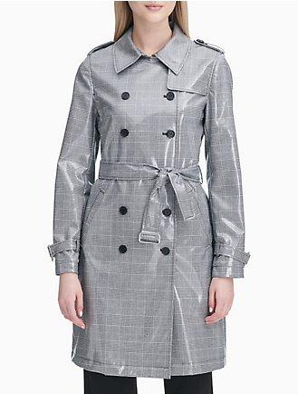 e05f1570e58 Hooded Zip Anorak Jacket. Final Sale. Glen Plaid Double Breasted Trench Coat