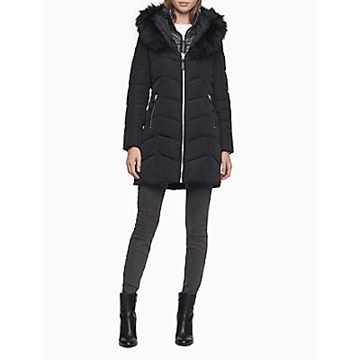 Heavyweight Zip Faux Fur Hooded Puffer Jacket