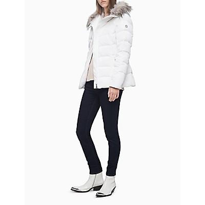 Faux Fur Hood Puffer Jacket