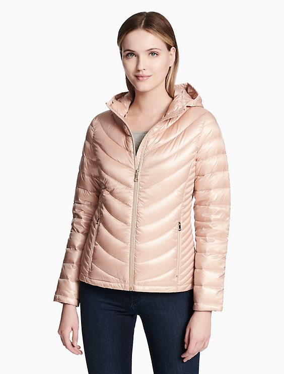 a19aed844 featherweight down hooded zip jacket | Calvin Klein