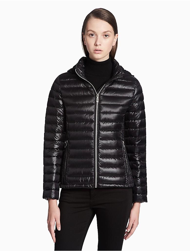 a8af9af9cd2e calvin-klein-womens-packable-hooded-short-jacket thumbnail 7