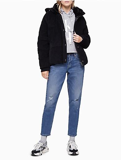 Image of Cordouroy Hooded Puffer Jacket