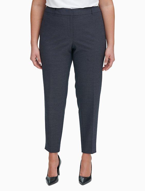 3cd3b108535 plus size slim fit ankle pants