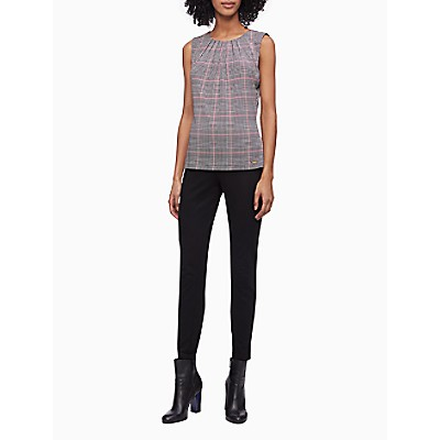 Seamed Stretch Pull-On Ankle Pants