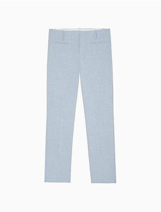 80eb4aae364a4 Modern Essentials Stretch Light Blue Melange Ankle Pants