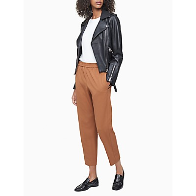 Solid Camel Pull-On Cropped Pants | Calvin KleinCalvin KleinCloseCalvin KleinShow Password