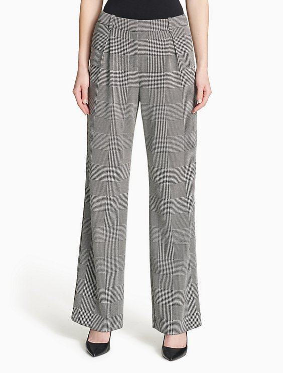 0d95bef3a4 Price as marked glen plaid wide leg pants