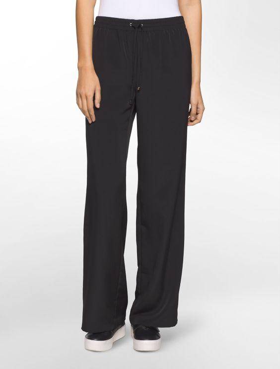 Calvin Klein Wide-leg Denim Jeans - Black