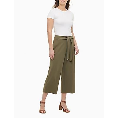 Tie Belt Wide Leg Culottes