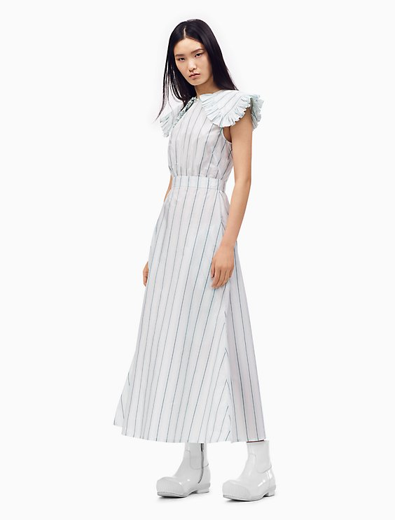Striped Pioneer Dress