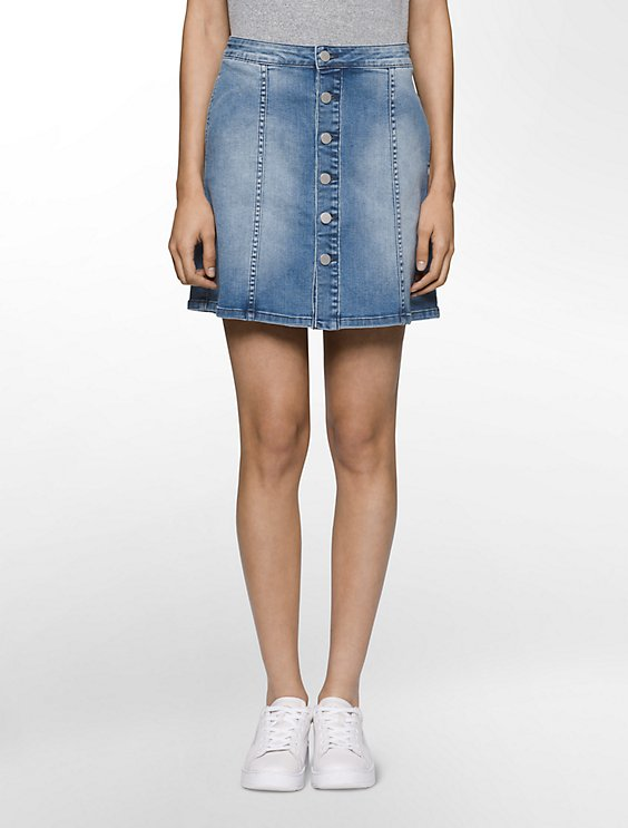 Calvin Klein Jeans A-line denim mini skirt Cheap Big Discount Outlet Store Discount Cheap Outlet In China 8aWrBIN7