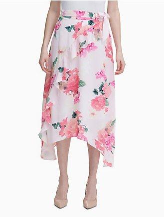 da7fbc2d9 Floral Ruffle Front Skirt
