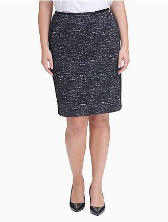 b68f227a4bc plus size ponte knit pencil skirt