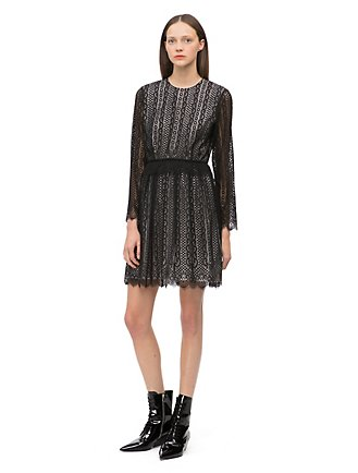 8dc5309f09 lace scalloped hem long sleeve dress