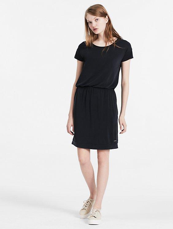 Slit Back Jersey Dress Calvin Klein