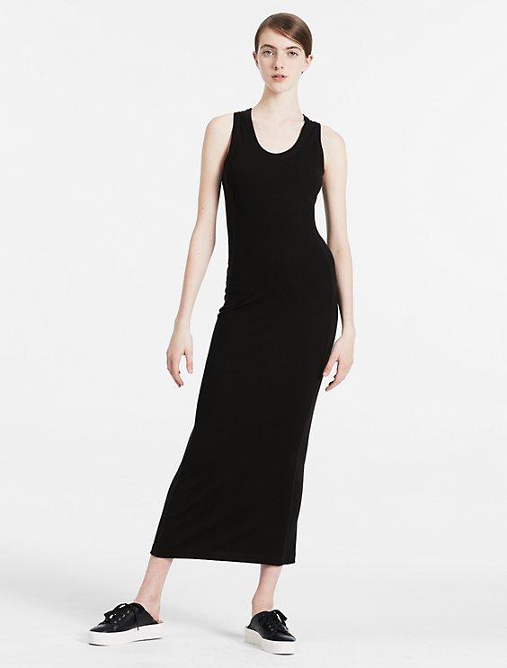 Ribbed Jersey Maxi Dress Calvin Klein