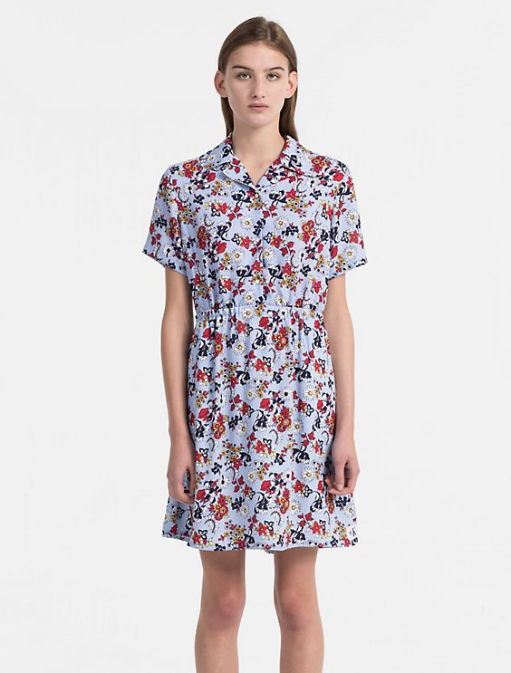 Quality From China Cheap Crepe Floral Dress Calvin Klein Buy Cheap Cost Get The Latest Fashion Free Shipping Fast Delivery Buy Cheap Best Store To Get B9ih2