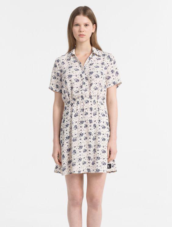Crepe Floral Dress Calvin Klein