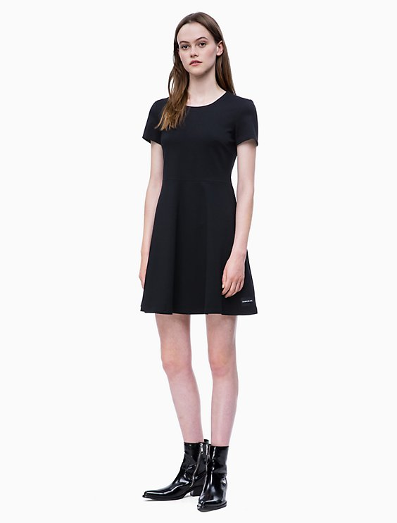 c9c4aae3bd7 Price as marked Logo Milano Jersey Fit + Flare Dress